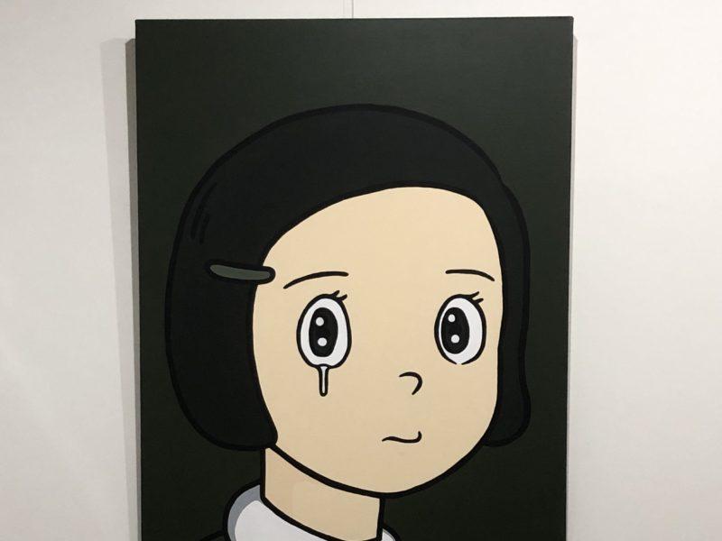 泣く女性をテーマにした、eyewater 展示してます